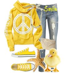 Peace, love, yellow and Converse!!