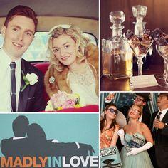 Mad Men-inspired wedding