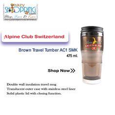 Brown #Travel #Tumber AC1 SMK. Shop online-www.eazyshopping4u.com