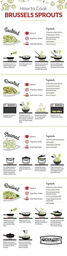 """A great infographic on """"How to Cook Brussels Sprouts"""""""