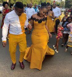 Top Seshweshwe Shweshwe Dresses for a Wedding Fashion Style African Bridal Dress, African Print Wedding Dress, African Evening Dresses, Latest African Fashion Dresses, African Dresses For Women, African Print Fashion, African Attire, African Prints, African Traditional Wear