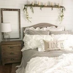 Most Beautiful Rustic Bedroom Design Ideas. You couldn't decide which one to choose between rustic bedroom designs? Are you looking for a stylish rustic bedroom design. We have put together the best rustic bedroom designs for you. Find your dream bedroom. Bedding Master Bedroom, Farmhouse Master Bedroom, Master Bedroom Design, Home Decor Bedroom, Bedroom Ideas, Bedroom Furniture, Diy Bedroom, Bedroom Modern, Bedroom Designs