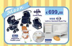 Moon Trio Cam Combi Baby + Lettino + Fasciatoio + Materasso + Piumone + Seggiolone Chicco. Vieni a scoprire l'OFFERTA!! http://www.lachiocciolababy.it/bambino/moon-6654.htm