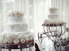 Cinderella fairy tale Wedding cake