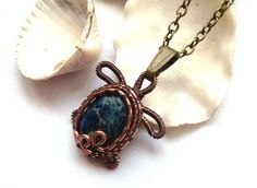 Sea Turtle Necklace Wire Wrapped Minimalist by DragonflyHJewellery