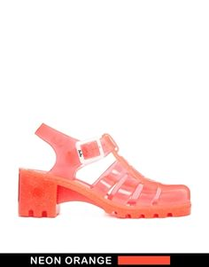 Image 1 - Juju - Babe - Sandales scintillantes à talons - Orange fluo