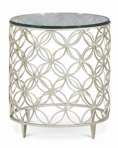 Bubbles : Classic Contemporary : Occasional Tables : con-sidtab-002 | Caracole Furniture