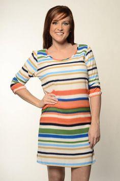 Stripe Love Dress  Kashcollection.com  $39.99