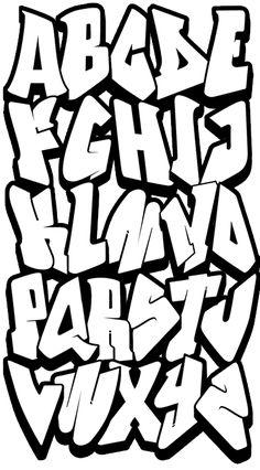 Dibujo de Letras de graffiti para Colorear  letras  Pinterest