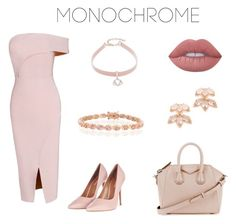 """""""Pretty in Pink."""" by olympia-valance ❤ liked on Polyvore featuring Topshop, Givenchy, Design Lab, Lime Crime, Bling Jewelry and Kate Spade"""