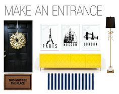 """""""Make an Entrance"""" by ideaprints on Polyvore featuring interior, interiors, interior design, home, home decor, interior decorating and Kate Spade"""