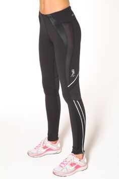 Compression Long Sport Tight by Blockout womens sports wear - Black - M
