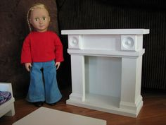 Fireplace Doll Furniture for American Girl or by MadiGraceDesigns, $85.00