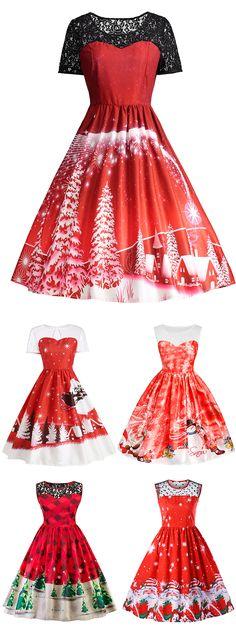 Christmas Vintage Dress |From $10| Sammydress.com| #blackfriday
