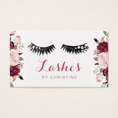 #makeupartist #businesscards - #lashes and floral decor business card