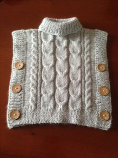 Free Knitting Pattern Baby Cardigan with Cables Free Baby Sweater Knitting Patterns, Poncho Knitting Patterns, Knitted Poncho, Knitting For Kids, Knitting Designs, Baby Patterns, Free Knitting, Crochet Stitch, Crochet Baby