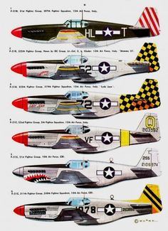 profils aviation,camouflage P-51 B/C Mustang