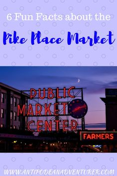 6 Fun Facts about the Pike Place Market in Seattle, USA! : 6 Fun Facts about the Pike Place Market in Seattle, USA! Travel Goals, Travel Advice, Travel Guides, Travel Tips, Slow Travel, Travel Hacks, Budget Travel, Usa Places To Visit, Seattle Usa