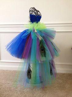 Peacock Tutu Costume Dress by GigglesandWiggles1 on Etsy