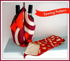 Wine Bottle Carrier Sewing Pattern by LillyBlossom on Etsy https://www.etsy.com/listing/118201469/wine-bottle-carrier-sewing-pattern