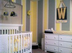 yellow and gray nursery | Grey and Yellow nursery | Future bambino ideas