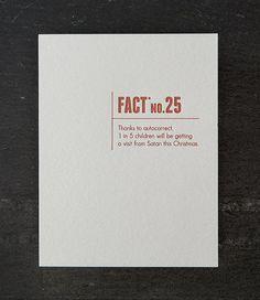 autocorrect. made up stats. letterpress card. by shopsaplingpress