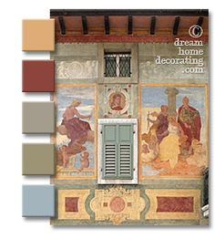 Exterior window treatments from the Alps to Florence: Colorful outside window treatments, floral inspiration and ideas for outdoor wood shutters.