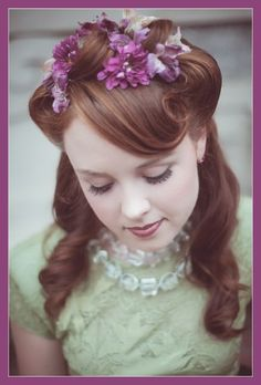 "What's not to love about a vintage hairstyle this season? We know you can rock this. We're in love with vintage right now and hereby name ""Vintage"" as one of our Top 5 Wedding Hair Trends for 2013. (And 1920, 1950, 1970......you get the idea.)"