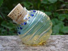 Slim glass stash jar bottle Made to Order by InfiniteCosmosGirl,
