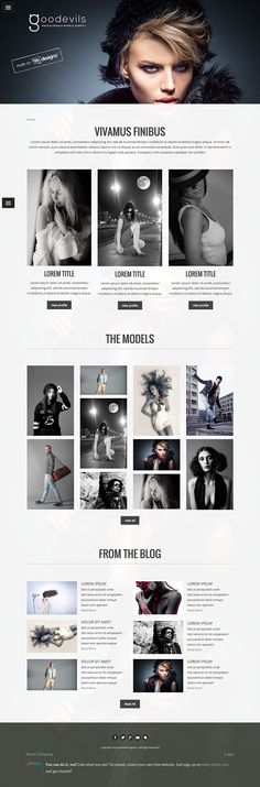 Logo and website design concept for a modeling agency by designer valrazan. – Jimdo template: Vienna – Visit their full site here: http://valrazan.jimdo.com/