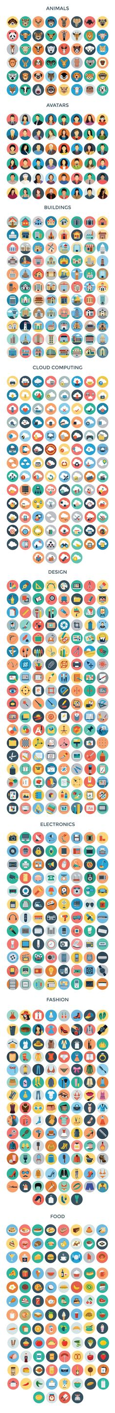 3200+ Flat Vector Icons by Creative Stall on Creative Market