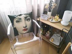 Design Fornasetti style Face pillow cushion retro Indoor