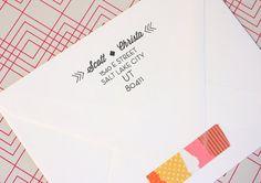 The Bohemian Dream Address Stamp from OWD Design Studio. Way Cute!
