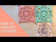 Easy Crochet Lace Square Tutorial - YouTube