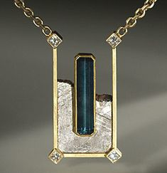 Jacob Albee: Indicolite tourmaline and diamonds in gold and Gibeon meteorite