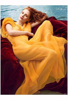 Jessica Chastain US Vogue December 2013 Photo Annie Leibovitz