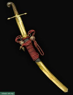 A RARE OTTOMAN SOLID GOLD-MOUNTED SWORD (KILIJ) AND SCABBARD, TURKEY