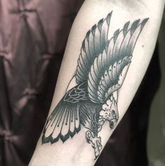 b3af7e5814d86 Black and Grey Eagle Tattoo by Billy Williams