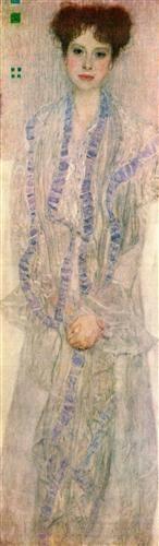 Portrait de Gertha Felssovanyi - Gustav Klimt