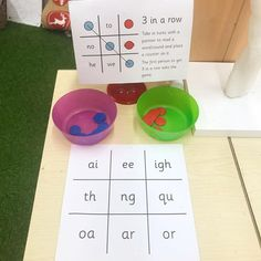 The children have loved this weeks phonics challenge. I also had a boards with the tricky words and CVC words on. Jolly Phonics Activities, Kindergarten Activities, Reading Activities, Eyfs Activities, English Activities, Educational Activities, Primary Teaching, Teaching Phonics, Read Write Inc Phonics