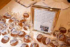 Stroopwafel favors for a couple who had vacationed in Amsterdam.  www.significanteventsoftexas.com