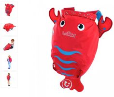 Lobster PaddlePak - Splash Proof Kids Backpack (Pinch) Meet Pinch, the splash proof kids backpack also known as PaddlePak! This lobster backpack is perfect for adventurous little boys and girls. $25.00