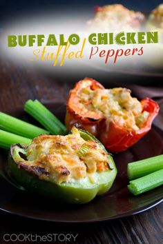 Buffalo Chicken Stuffed Peppers, these are amazing!