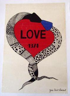 Vintage ysl poster