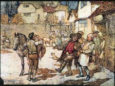 Arthur Rackham - The Ingoldsby Legends of Mirth and Marvels Second Edition 1905 - When a score of ewes had brought in a reasonable profit (2nd edition version) [110]