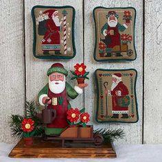 Santas Revisited III. Gráfico de punto de cruz de The Prairie Schooler en www.lacasinaroja.com