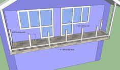 Installing balcony bottom rail