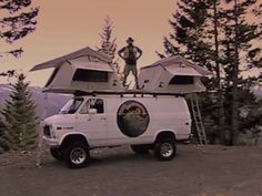 Poler Outdoor Stuff Introduces: Le Tente !. Dr. Dan Douglas is back, and he couldn't be more excited to inform you about our glorious new ro... Car Top Tent, Roof Top Tent, Backpacking Gear, Top Cars, Camping Equipment, Van Life, The Great Outdoors, Rooftop, The Past