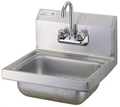 Turbo Air - Wall-Mounted Hand Sink - Green World Series Small Kitchen Sink, Small Sink, Kitchen Sinks, School Furniture, Art Furniture, Restaurant Sink, Commercial Sink, Food Service Equipment, Stainless Steel Sinks