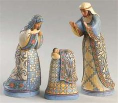 JIm Shore - the Nativity in Blue....I have this whole set and love it!!!!!